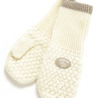 LilleLam Knitted mitten offwhite